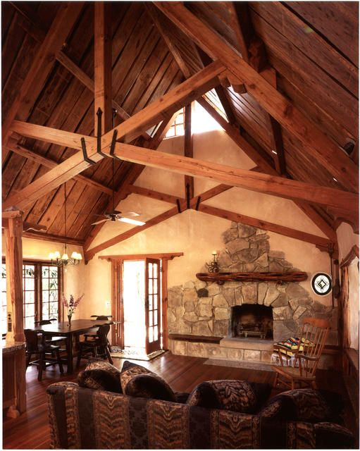 cob and timber house - grand interior