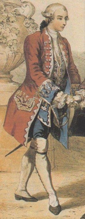 Officier des gardes suisses (France) lithographie du XVIII°s. - 56) MAISON DU ROI. B:MAISON MILITAIRE: Jusqu'à la création des casernes en 1764, les 6 bataillons de Gardes Françaises et le 1° bataillon de Gardes Suisses étaient logés chez l'habitant à Paris et les 3 autres bataillons de Gardes Suisses en banlieue. Les troupes logées à Paris perturbaient souvent l'ordre public et les soldats arrondissaient les soldes par des trafics ou de menus travaux.
