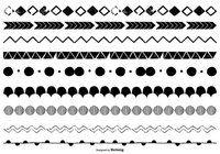 Hand Drawn Vector Borders