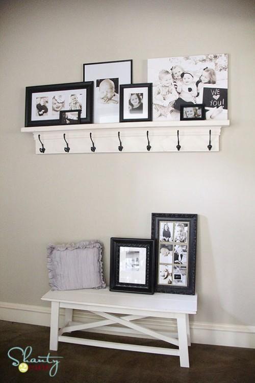 DIY Hook Shelf for the Entry! DIY Bookcase DIY Shelves