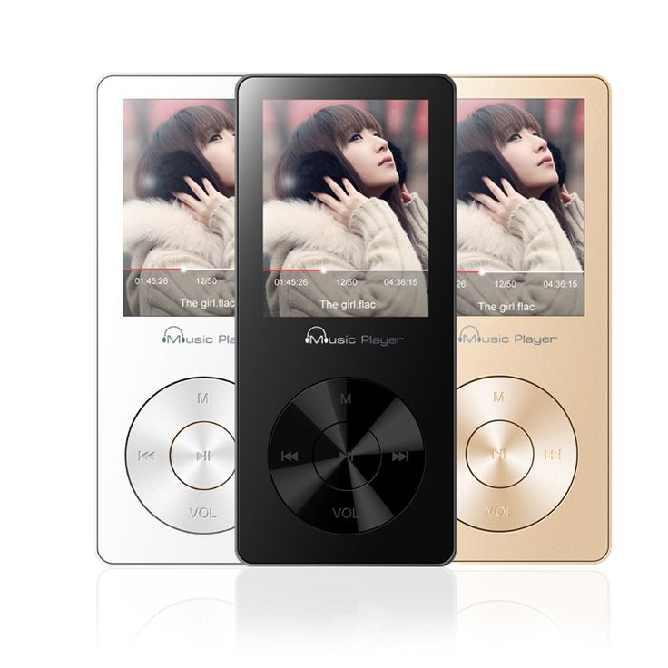 Metal 8GB Lossless Music HIFI Sound Quality MP3 Player Video Audio Player HIFI Player with FM Radio Clock Support 64gb TF Card