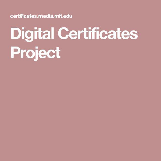 Digital Certificates Project