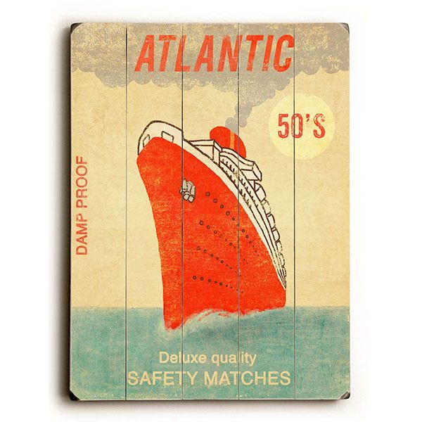 Atlantic Safety Matches by Artist Terry Fan Wood Sign