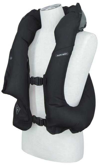 "Hit-Air inflatable air vest ""LV"" model in Black Size is Adjustable. One Size Fits Adults M-L"