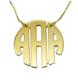 18K Yellow Gold Plated Initial Necklace by madetoinspire on Etsy, $60.00