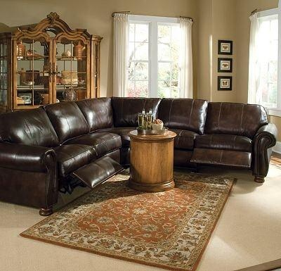 Shop For Thomasville Benjamin Motion Sectional 20901 And Other Living Room Sectionals At Slone Brothers In Longwood FL Leather Double Fudge