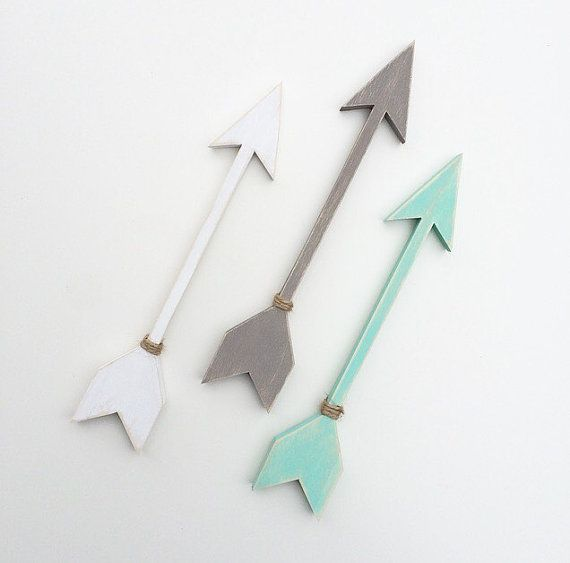 Wooden Arrow wall art set of 3 size small. Gallery by EastPlum