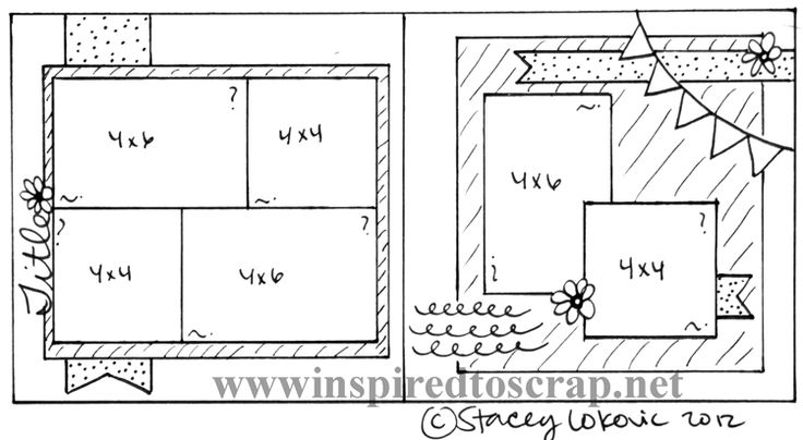 2264 Best 2 Page Scrapbook Sketches Images On Pinterest Scrapbook