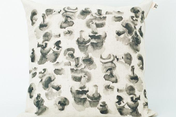 Mushroom cushion cover 50 x 50 by Touchee Feelee