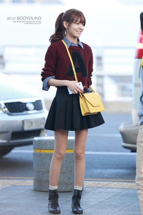 Sooyoung snsd airport fashion