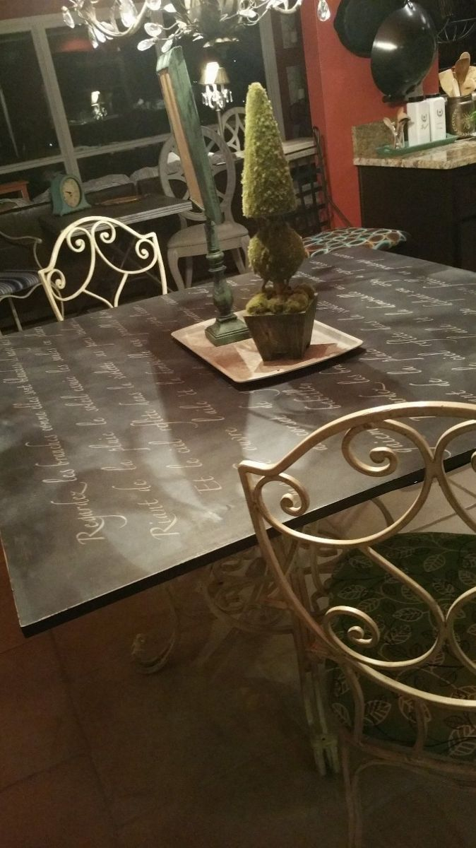 Glass top dining table - Painted Board For Glass Top Dining Table