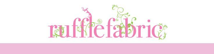 Ruffle Fabric.com-this site has the most beautiful ruffled fabric!!!! Yeah, already ruffled!!!