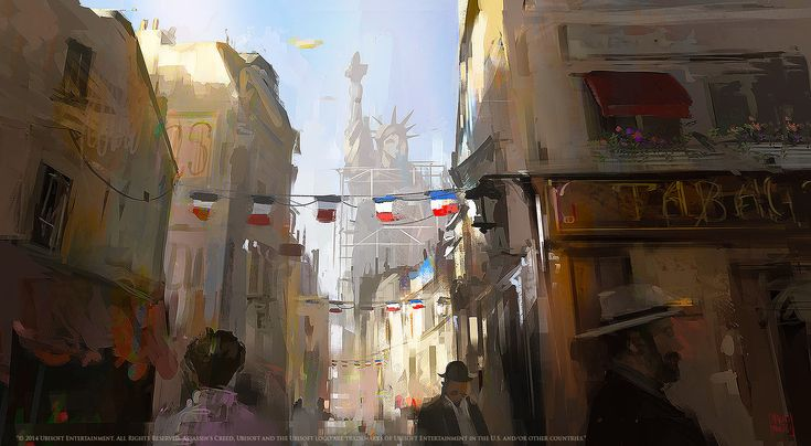 ArtStation - Assassin's Creed Unity: The statue of Liberty Mood sketch, Nacho Yagüe