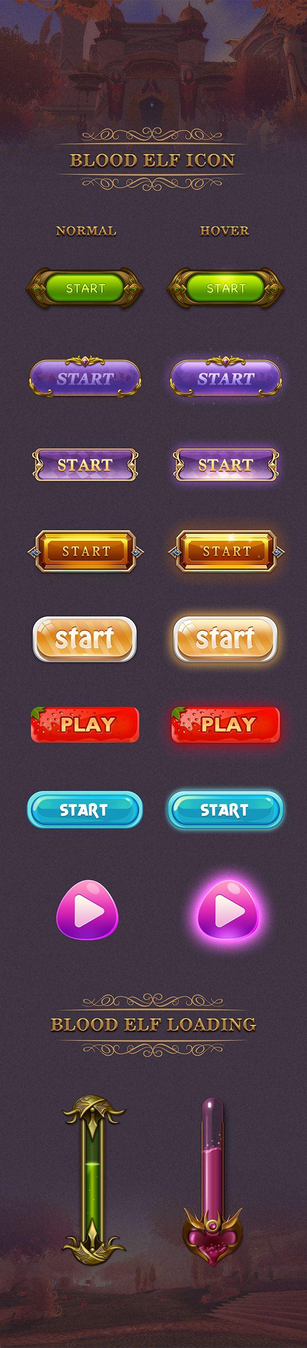 原创作品:游戏UI按钮&loading ...