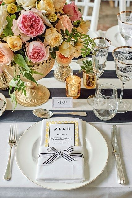 Place setting ideas and place card designs - Table Ideas (BridesMagazine.co.uk)