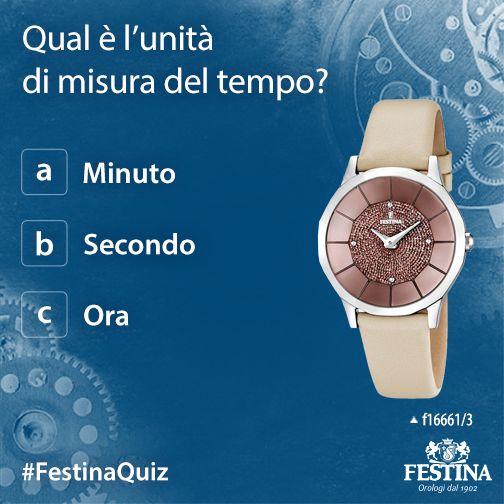 Le domande più semplici a volte lasciano senza parole: qual è l'unità di misura del tempo?
