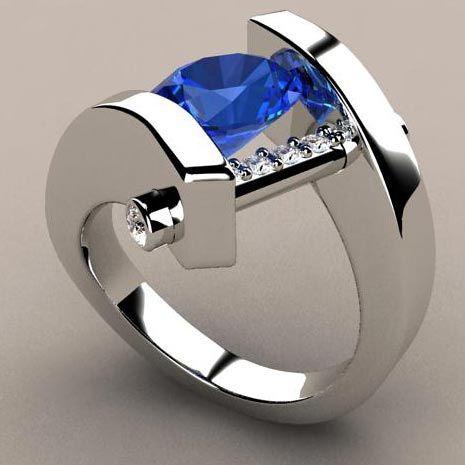 Este anillo está hecho de oro de 14 k blanco 3 quilates aguamarina natural de…