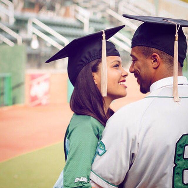 College Couple Graduation Photos