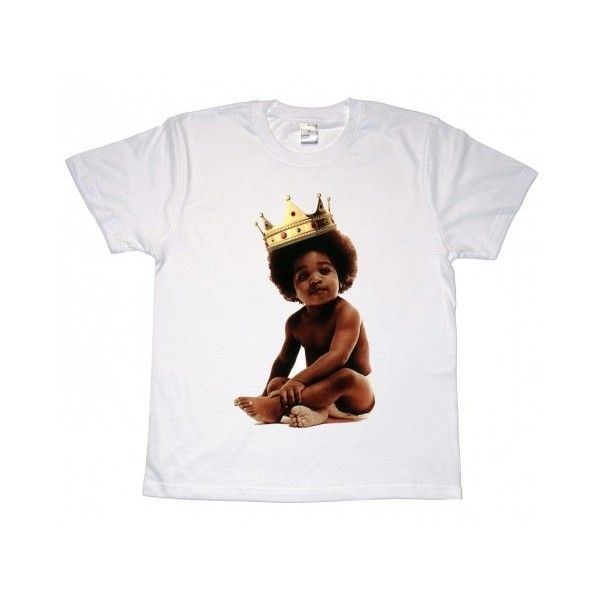 Notorious BIG Baby T-Shirt ($17) ❤ liked on Polyvore featuring shirts, tops and tees