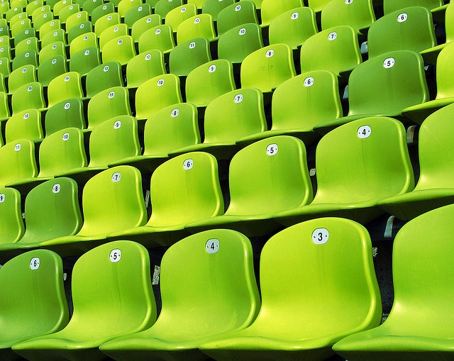 green chairs: Color Green, Limegreen, Green Seats, Gorgeous Green, Lime Green, Green Chairs, Stadium Seats, Photo, Black