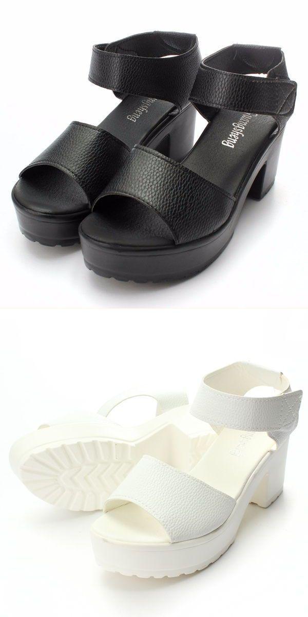 584dcb7bf Oka b sandals fashion women summer chunky high heel sandals soft ankle high  platform shoes