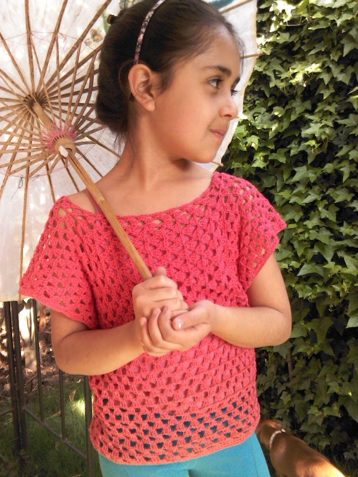 polera niña crochet