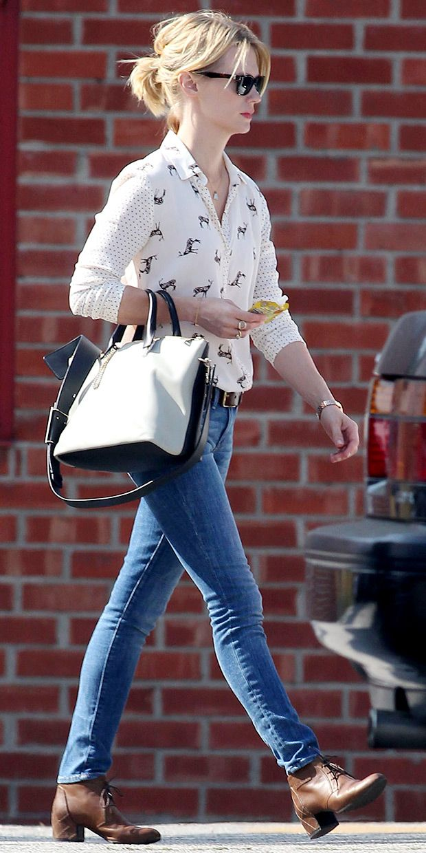 January Jones: We love her street style, especially her Chloe bag! (Click for details on the rest of her outfit.)