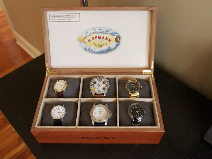 D.I.Y Watch Box. Great for me and especially the man for his growing watch collection