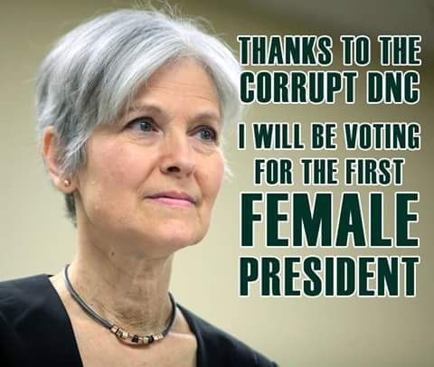 Dr. Jill Stein @DrJillStein  8h8 hours ago It's the height of privilege to win a primary rigged by your elite cronies, then act entitled to the votes of people you cheated. #DNCleak