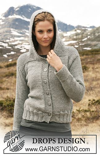 Ravelry: 116-24 Jacket with hood pattern by DROPS design