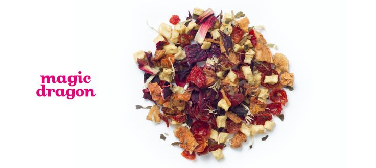 Magic Dragon - Apple, rosehips, hibiscus, sweet blackberry leaves, dragonfruit, cornflower petals, natural dragonfruit flavouring