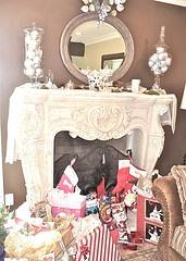 My Christmas Fireplace Mantel