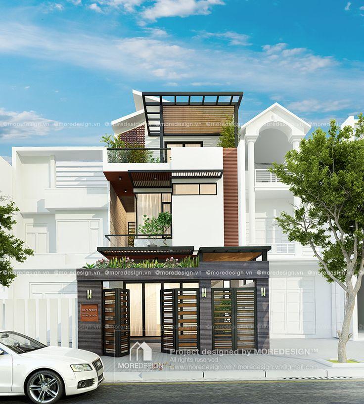 Thiết kế nhà phố hiện đại 6,5x21m TP.Quy Nhơn