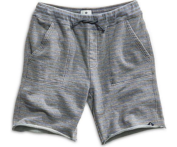 Raw cut off edges Grey Drawstring 3 pockets Heather grey shorts with faded…