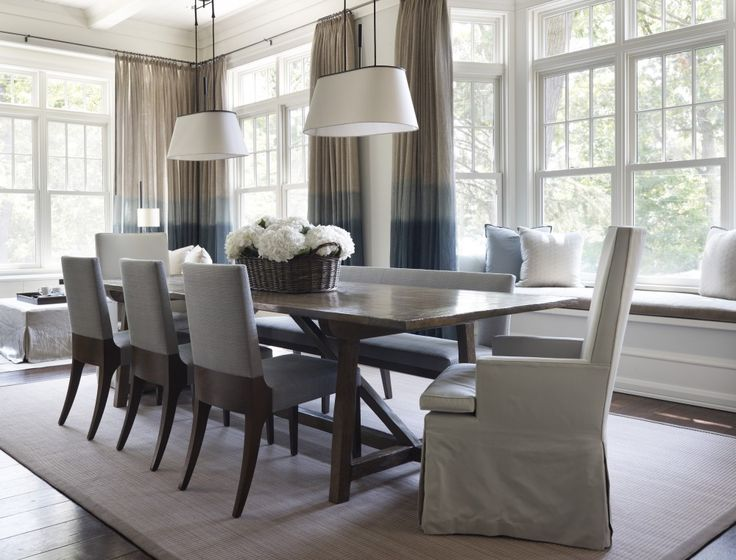 Blue And Grey Dining Room