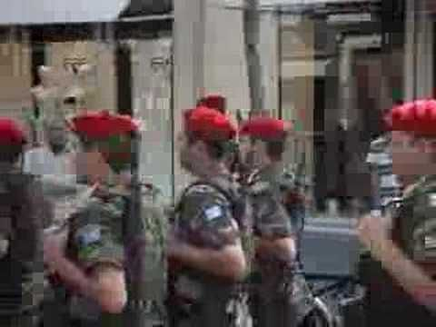 Greek Soldiers in Paris for Bastile Day