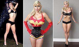 Model Pixee Fox has 15 surgeries and 6 RIBS removed to look like Jessica Rabbit