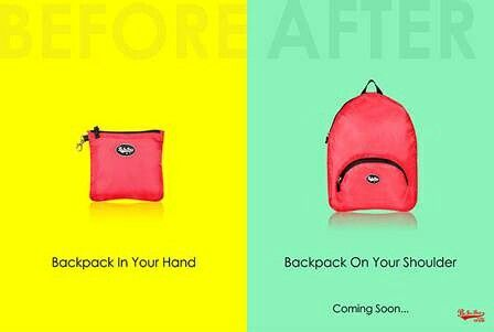 Buy this foldable, light weight, water repellent bags only on www.beforbag.co.in #backpacks #foldable #waterrepellent #lightweightbags