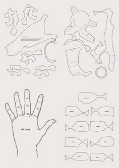 Iron Man Hand DIY with cereal box (PDF template