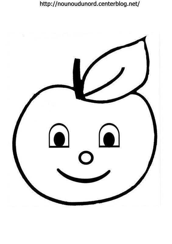Coloriage pomme réalisé par nounoudunord.