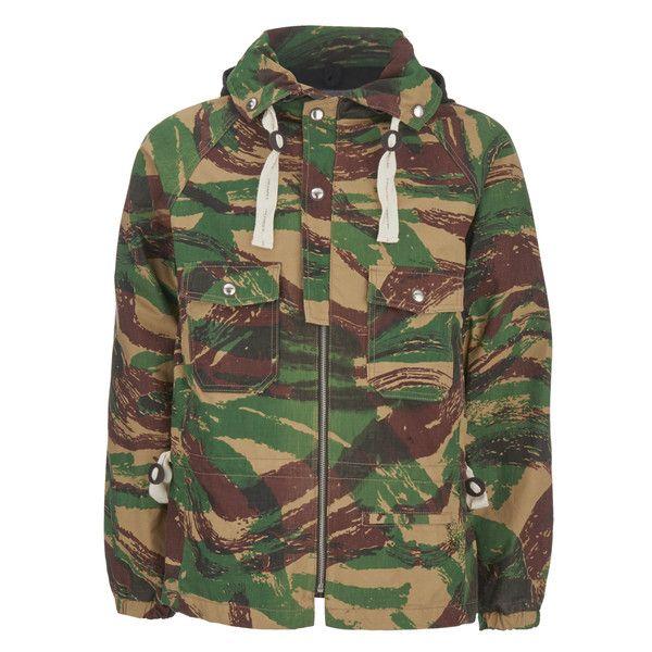 Garbstore Men's Moss Parka Jacket - Camo (59955 RSD) ❤ liked on Polyvore featuring men's fashion, men's clothing, men's outerwear, men's jackets, green, mens camouflage jacket, mens outerwear, mens green parka, mens camo jacket and mens parka jacket