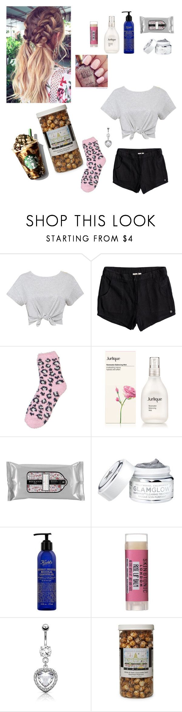 """Untitled #685"" by nicole-jordan0342 ❤ liked on Polyvore featuring Roxy, Venus, Beekman 1802, Skin & Tonic and The Hampton Popcorn Company"