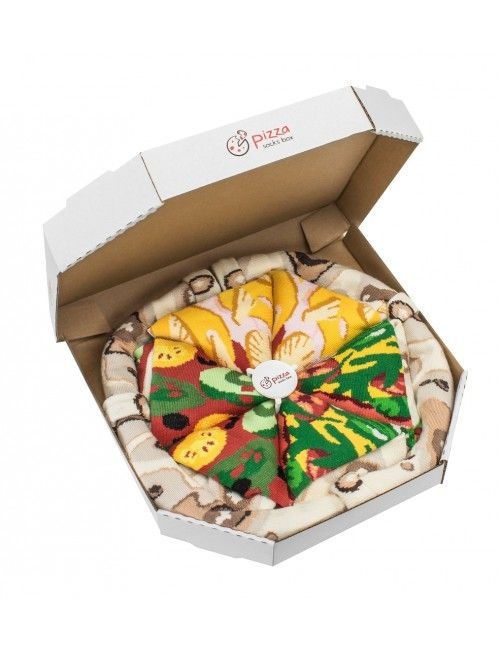 Pizz Socks! Crazy socks! Unusual folding! Socks in a shape of pizza! For women and men, 2 sizes!10 different combinations!