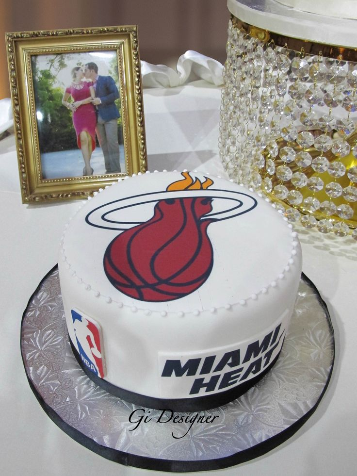 Groom cake Miami Heat