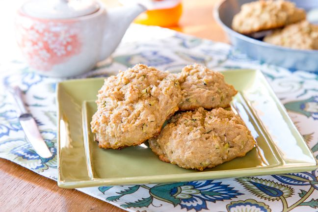 These vegan zucchini scones are packed with hearty whole grain flour, oats, freshly grated zucchini, and olive oil!