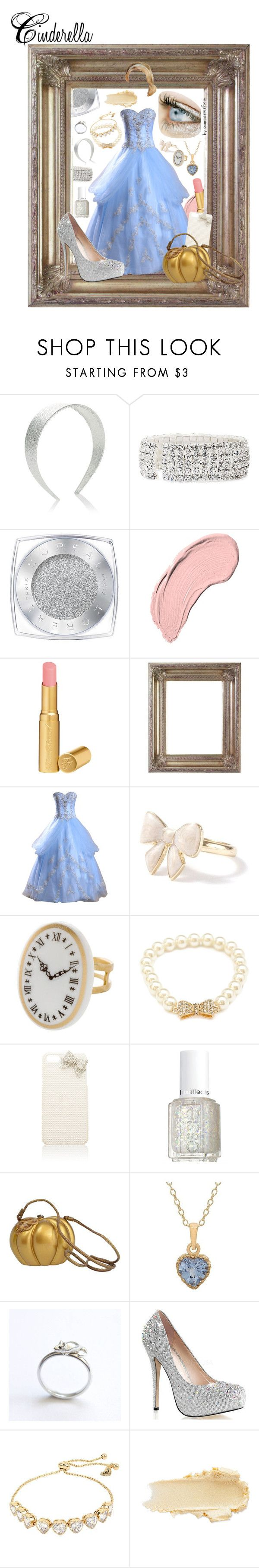 """Cinderella Prom"" by summersurf2014 ❤ liked on Polyvore featuring Accessorize, Vieste Rosa, L'Oréal Paris, NYX, Too Faced Cosmetics, Forever 21, Forever New, Essie, Timmy Woods and TIARA"