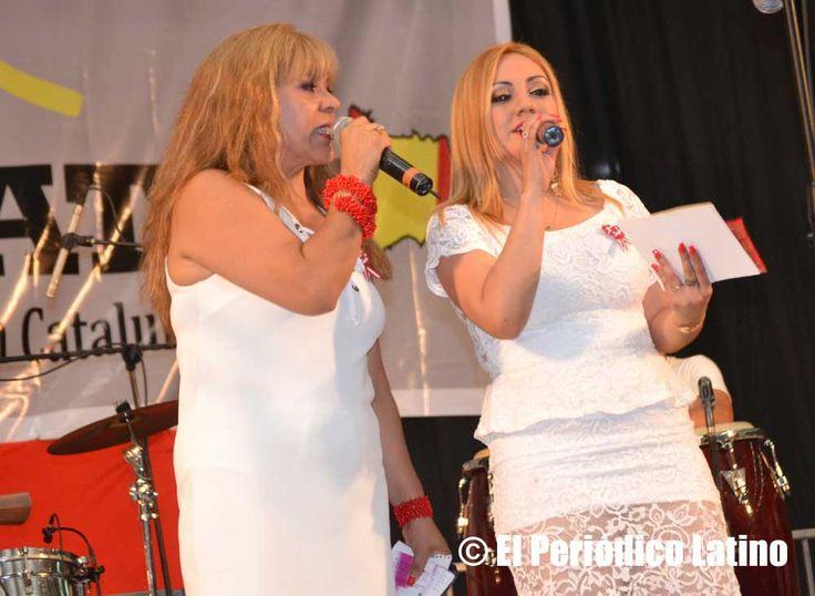 Las principales voces de la radio latina animaron la tarima principal durante las Fiestas Patrias del Perú en el Polideportivo del Vall de Hebrón, entre ellas la destacada locutora Mercedes Aucca.