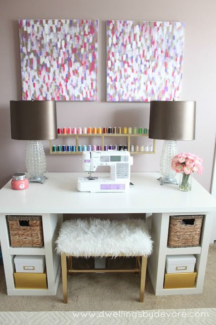 ohhhhhhhh I'm obsessed with this sewing station!