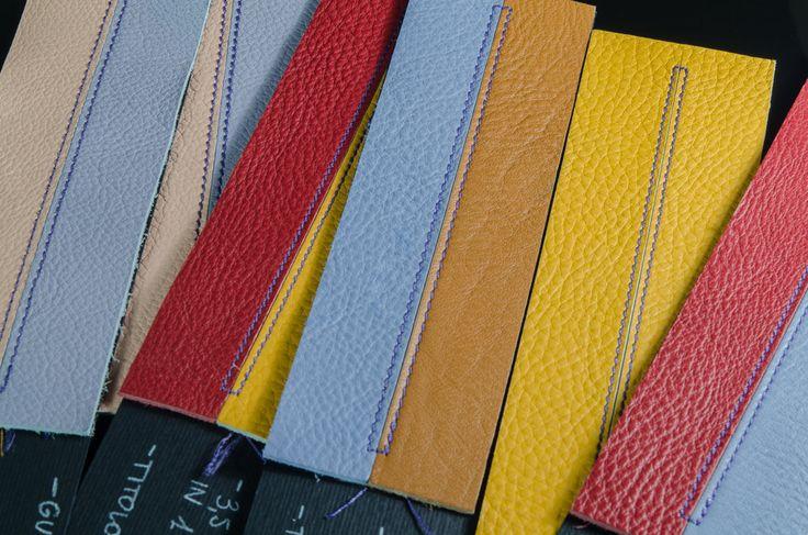 Cucitura  da 3 punti in 1 cm, misura standard usata negli articoli di alta qualità nella piccola pelletteria