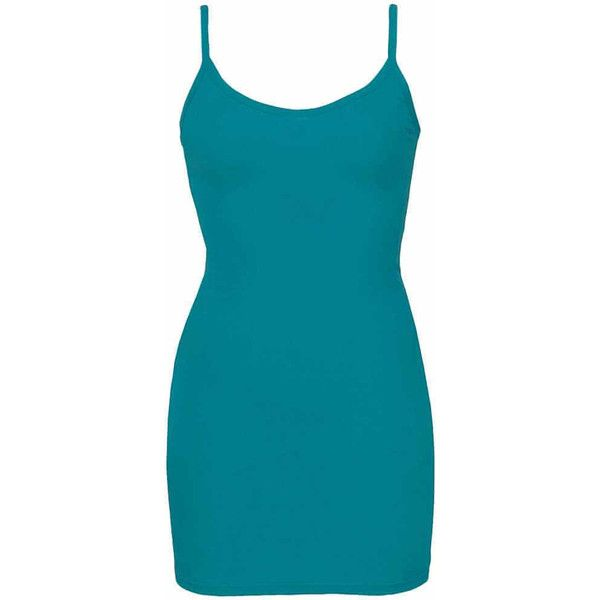 BKE Extra Long & Lean Tank Top - Turquoise Small ($14) ❤ liked on Polyvore featuring tops, turquoise, strappy top, turquoise tank, v-neck tank tops, extra-long tank tops and blue tank